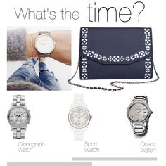 """""""What's the time?"""" by busta on Polyvore Featuring the Urban Story clutch from BÙSTA #busta #bustabags #leatherclutch #leather #streetstyle #perforated #blue #embroidery #folklore #handmade #clutch #metalstrap #metalchain #silver #watch #cronograph #quartz #sport"""
