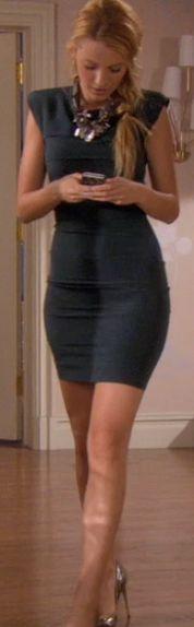 Serena van der Woodsens Smokey Blue Dress from Gossip Girl: All The Pretty Sources #ShopTheShows #curvio