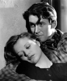 Simone Simon and James Stewart in a publicity shot for Seventh Heaven (Henry King, 1937)