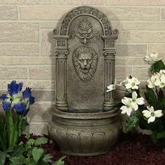 Bon Outdoor Classics   Outdoor Classics Leo Solar Outdoor Wall Fountain   #Wall  HangingFountains