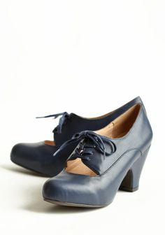 Elisa's own navy vintage shoes