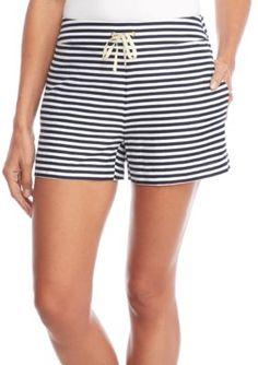 Sail To Sable Women's Stripe Shorts - Navy - Xl