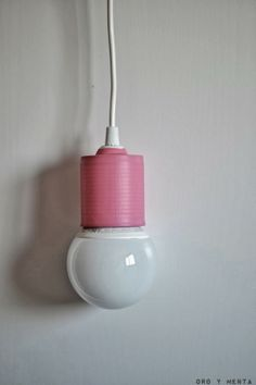 Lámpara estilo nórdico DIY y low cost