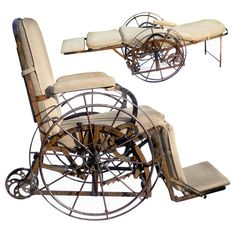 ☤ MD ☞☆☆☆ 1871 Wilson's Adjustable Iron Chair.