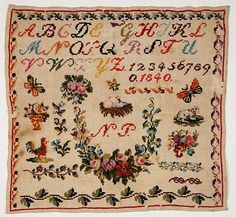 A 19th Century EUROPEAN Sampler Dated 1840 ~ Museums On Line