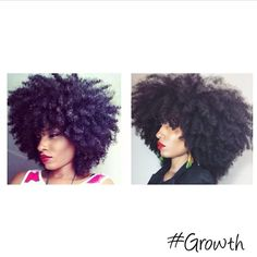 Afro hair growth. Natural hair growth. Hair growth journey. Curly Afro. Afro…