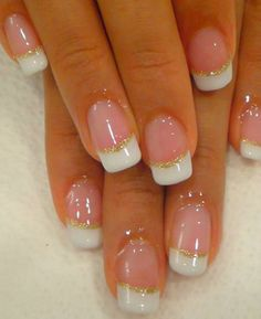 So Pretty White End Nail Designs