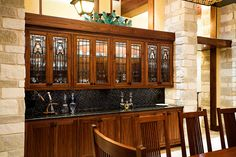 Our client came to us wanting to add a special touch to the 'Prairie Style' home they were constructing in Chilton, Texas. Our designs give a nod to a southwest style blending with a mission style. Designed and constructed by Stanton Studios. #custom #woodworking #cabinetry