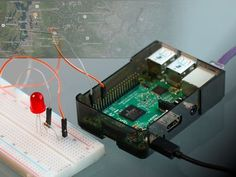 A simple Internet-connected application to query the status of a web API and use it's information to toggle an LED and put a pin on a map! By Windows IoT, David Shoemaker, Anthony Ngu, and Aparajita Dutta.