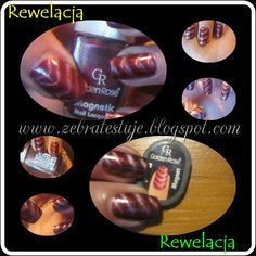 Zebra Testuje: Golden Rose Magnetic Nail Lacquer #205 Magnetic Nails, Magnets, Rose, Pink, Roses