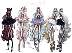 'Couture Ballet' collection by Hayden Williams. Plume Noir, Pretty En Pointe, Ethereal Beauty & Dual Danseuse.
