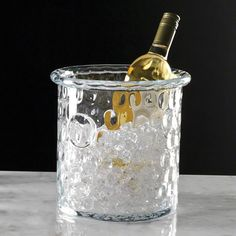 Global Views Honeycomb Ice Bucket/Cooler with Rolled Edge