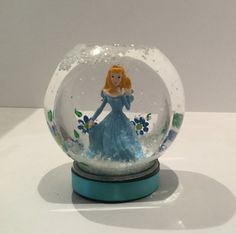 Personalized Snow Globe  Cinderella Snow by GingerspiceStudio