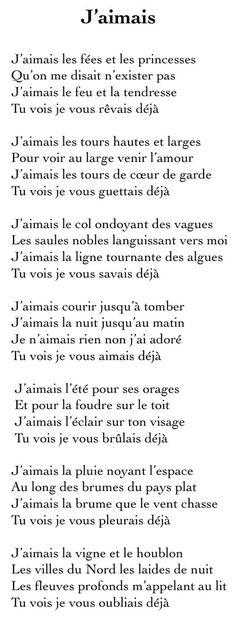 J'aimais © Jacques Brel: