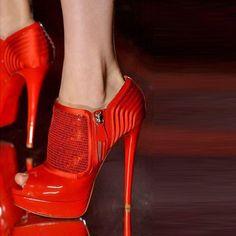 Shoespie Red Peep Toe Stiletto Heels