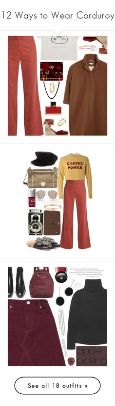 """12 Ways to Wear Corduroy"" by polyvore-editorial ❤ liked on Polyvore featuring corduroy, Samuji, AlexaChung, Paloma Wool, Castañer, I+I, Fendi, Bloomingdale's, Prada and Gucci"
