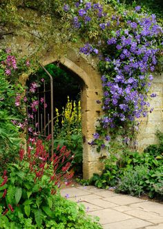 Entrance to the Secret Garden in the Cotswolds, England.