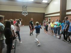 The group will be divided into two lines. One person from each line (from opposite ends) will walk towards each other. They cannot talk or make noise. Their goal is to make the other person crack a smile. Mutual Activities, Youth Group Activities, Young Women Activities, Team Building Activities, Youth Groups, Therapy Activities, Church Activities, Teen Activities, Youth Ministry Games
