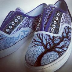 Art shoes : sharpie and ink on canvas shoe | Beka Butts | Flickr