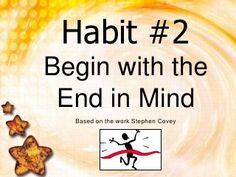 Begin With The End In Mind 1 7 Habits Activities, Covey 7 Habits, Habit 5, Seek First To Understand, Habits Of Mind, Seven Habits, Highly Effective People, Leader In Me, Stephen Covey