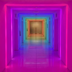 #led #lights transform this #empirestatebuilding hallway