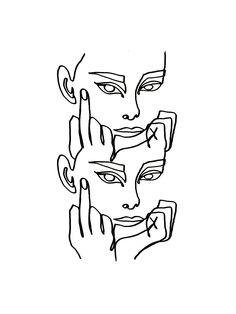 linework von Julia Hariri # linework # artwork # arty # artsy # tattoo # abstract # painting # i . - Linework by Julia Hariri - Colorful Wallpaper Art And Illustration, Illustration Fashion, Fashion Illustrations, Portrait Illustration, Art Sketches, Art Drawings, Abstract Drawings, Tattoo Sketches, Tattoo Drawings