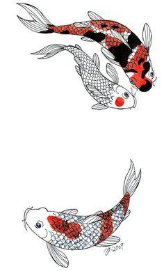 swimming #koi tattoo design