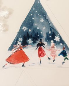 Katie Rodgers | Paper Fashion. Christmas drawing