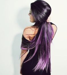 Black to purple ombre