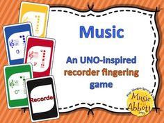 Kids LOVE UNO and they're sure to love this Recorder Fingering version of this UNO inspired game! Students will reinforce their staff & note names as well as fingering for the notes of the recorder while having a great time paying this card game classic. #elmusied #musicTpT #recorder