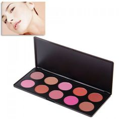 Comfortable 10-Color Charming Face Cheek Blusher Make-up Cosmetic Gadget Box for Lady can be purchased from #RoseWholeSale Online Store with Promotional Coupons and Vouchers.