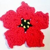 "5½"" Poinsettia Coasters and Hot Pads Cr - via @Craftsy"