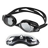 Color:BlackMaterial:PC polycarbonate(Lenses/Frame) +Silicone(Cushion/Headstrap)Feature:Protection,Radiation protection,Anti fog,Waterproof,Shatterproof,Removable You will receiveSwim goggles×1Goggles case×1Ear plugs×1Nose clip×1Nose bridge×3 ...