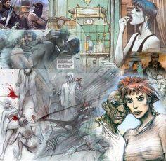 Bilal Enki, Illustrations, Illustration Art, Science Fiction, Art Anime, Figure Sketching, Bd Comics, Doodle Sketch, Panel Art