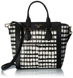 877f86a0b7 Cross-Body Bags Cole Haan Abbot Mini Satchel, Black/White Plaid Snake  Emboss - Boutique Page