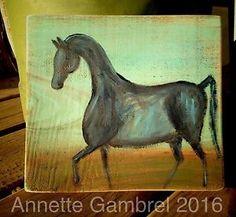Horse Original Rustic Painting Primitive Folk Art By Annette Gambrel    eBay