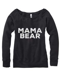 Mama Bear Off Shoulder Sweater. Great for mother to be or Mom $32 Size Small-XXLarge A variety of colors available