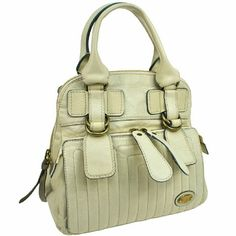 """Auth Vintage Logos Bay Hand Bag Leather BBG6614 """"It is 100% Authentic Item - Previously Owned but Good Condition,Please Check all the Photos!  Material: Leather, Color : Ivory , some noticeable scratches and dirt  ,,Smell of material.  ,  No Trade."""" Chloe Bags Shoulder Bags"""