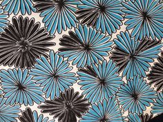"""Vintage Woven Turquoise Black White Silky Synthetic Fabric 39"""" x 3 yds"""