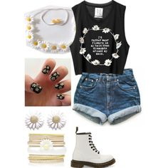 A fashion look from October 2014 featuring Levi's shorts, Dr. Martens ankle booties and Forever New bracelets. Browse and shop related looks. Looking For Alaska inspired