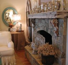 like this fireplace/ mantle
