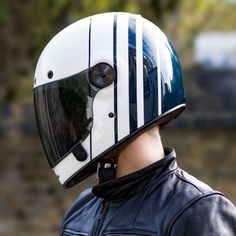 Urban Rider has commissioned two limited edition designs and colourways of the ever-popular full-face BELL Bullitt helmet - now available for pre-order. Retro Motorcycle Helmets, Retro Helmet, Vintage Helmet, Riding Helmets, Women Motorcycle, White Motorcycle Helmet, Biker Helmets, Biker Gear, Custom Helmets