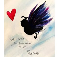 """Ha ha... I love that... and as a matter of fact I plan on  joyfuly soaring this year... no matter what... in every way I can...  4,726 Likes, 66 Comments - A.C. Sparks (@a.c.sparks) on Instagram: """"Don't keep your wings waiting. #acsparks #acsparksart  #wings #freedom #love #quotes #poetry…"""""""