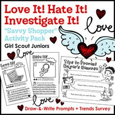 Girl Scout Juniors - Savvy Shopper badge - Steps 2 & 3 - Juniors investigate why they want what they want by surveying friends and family about today's most popular items. Then, girls team up with troopmates to find out what makes them happy (or unhappy) with the products they buy using a set of engaging draw-and-write prompts. ...