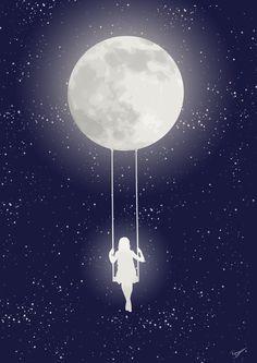 Resultado de imagen para girl moon