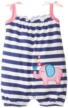 Amazon.com: Peanut Buttons Baby-Girls Newborn Girl Elephant Romper: Clothing