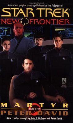 Martyr (Star Trek New Frontier, No 5) by Peter David http://www.amazon.com/dp/0671020366/ref=cm_sw_r_pi_dp_ECxvub1M1F8XF