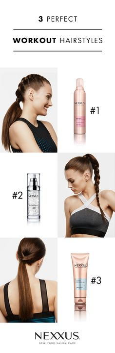 """These 3 stunning looks were achieved using 1 Nexxus New York Salon Care product – yes, you heard right…One. Single. Product! For """"Curve Appeal,"""" Nexxus Encapsulate Sérum gives you smooth strands. For """"Wound Up,"""" a small amount of Nexxus Mousse Plus prevents flyaways. Lastly, to """"Line Dance,"""" use a dime size amount of Nexxus Exxtra Gel to ensure a shiny and frizz-free workout. Lots of tips and tricks (plus extra styles!) can be found by clicking through to the full Harper's Bazaar article."""