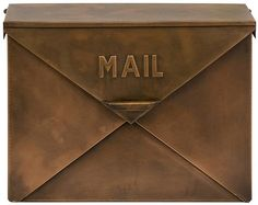 Iverson Copper Finish Mailbox - Wall-mount Mailbox - Decorative Mailbox - Letterbox | HomeDecorators.com