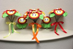 wedding bouquets from Super Mario